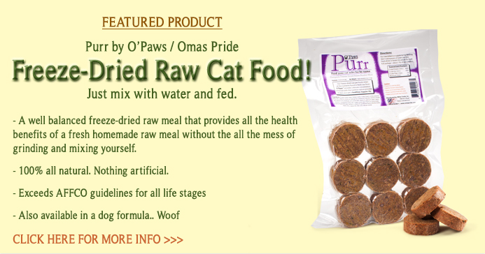 Raw Cat Food Shipped