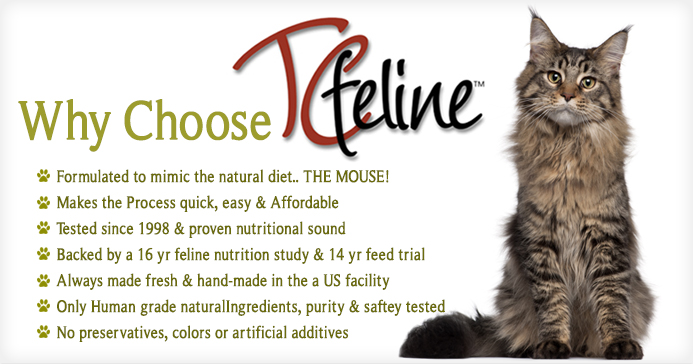 Why Choose TcFeline Premix to make your own Homemade Raw Cat Food